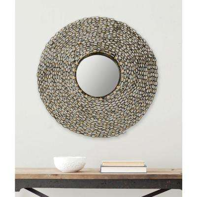 Jeweled Chain 24 in. x 24 in. Iron Framed Mirror