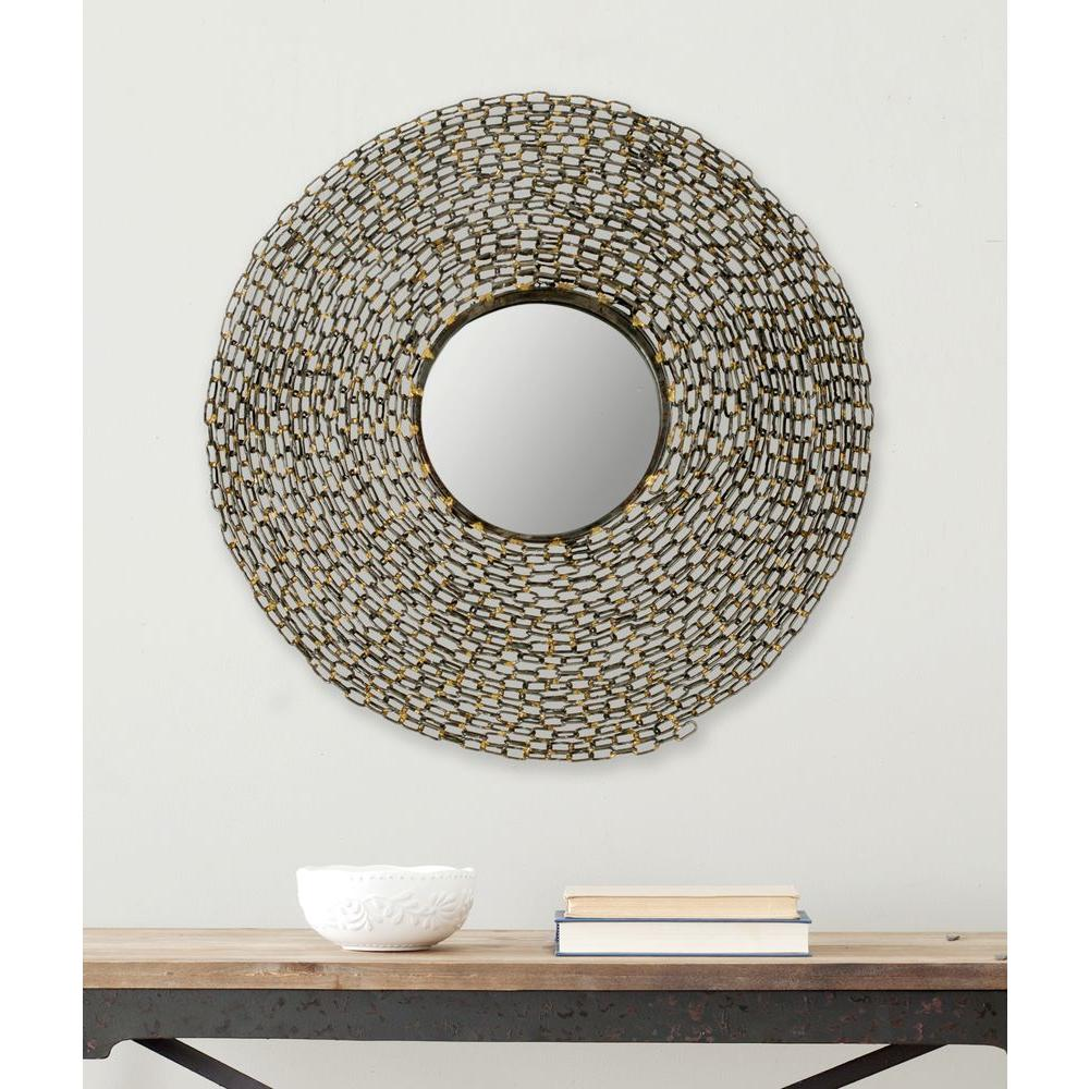 Safavieh Jeweled Chain 24 in. x 24 in. Iron Framed Mirror