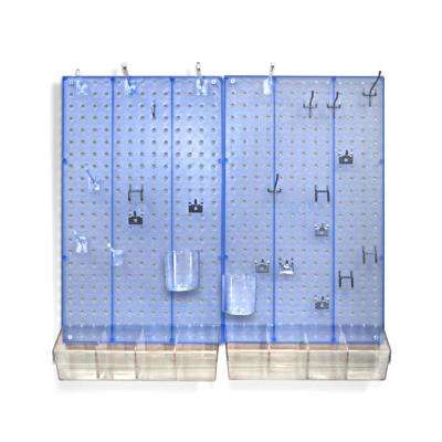 22 in. H x 27 in. W x .125 D Styrene Pegboard Kit (70 Pieces)