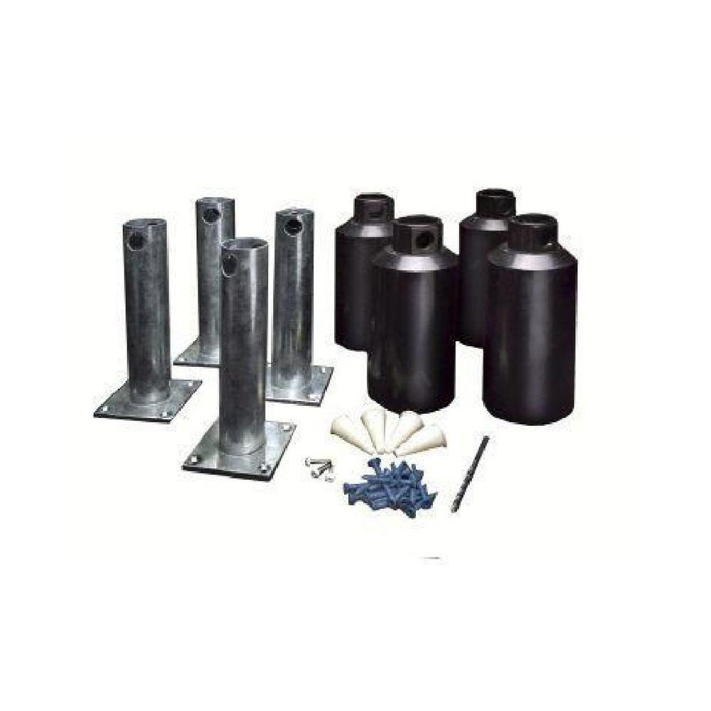 New England Arbors Surface Mounting Kit 3.5 in. Posts (Set of 4)