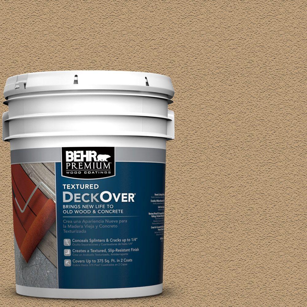 BEHR Premium Textured DeckOver 5 gal SC 145 Desert Sand Textured