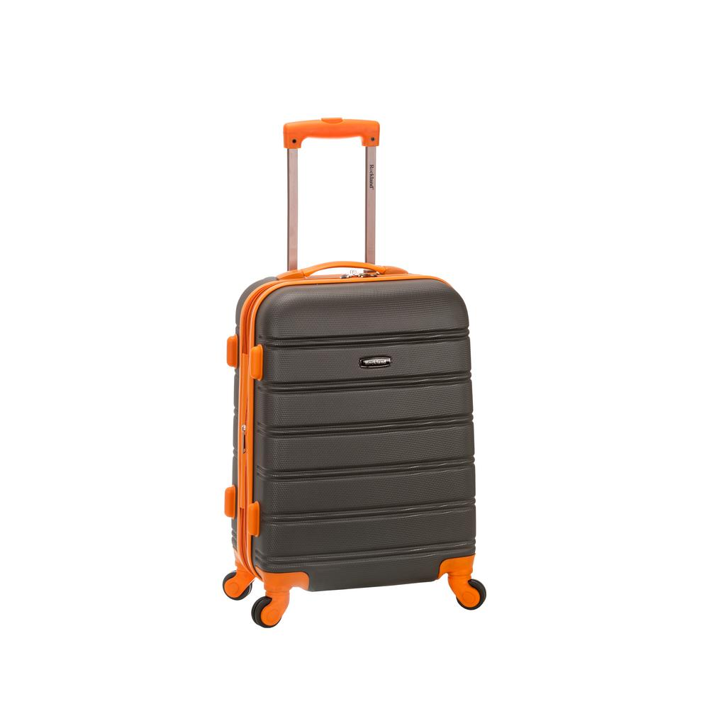 Rockland Melbourne 20 in. Expandable Carry on Hardside Spinner Luggage, Charcoal, Grey was $120.0 now $58.8 (51.0% off)