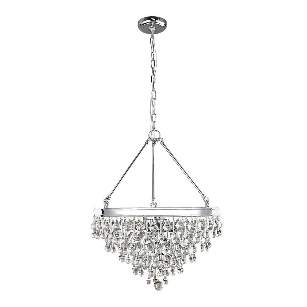 Decor Living Milton 6-Light Chrome Crystal Pendant