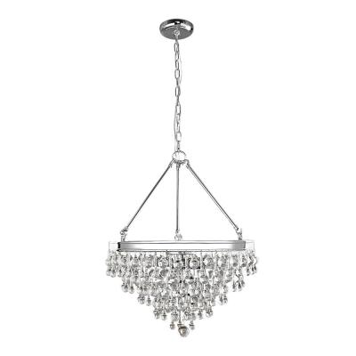ExclusiveMilton 6-Light Chrome Crystal Pendant. by Decor Living