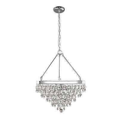 Milton 6-Light Chrome Crystal Pendant