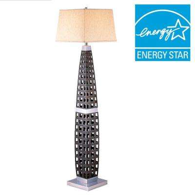 60 in. Dark Brown Floor Lamp