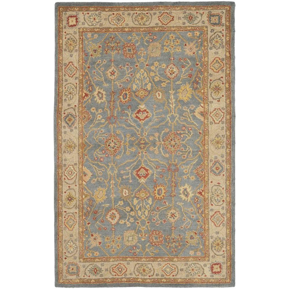Antiquity Blue/Ivory 5 ft. x 8 ft. Area Rug