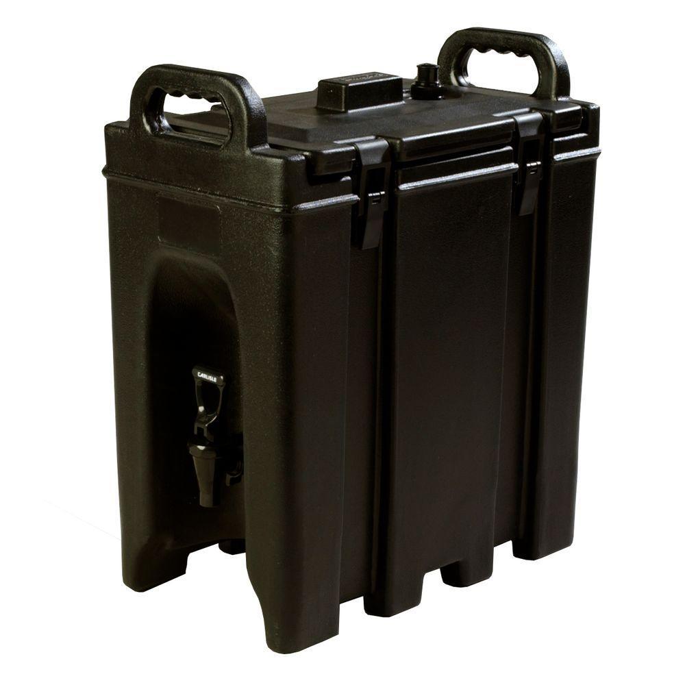 Cateraide 2.5 gal. Nylon Latch Black Insulated Beverage Server