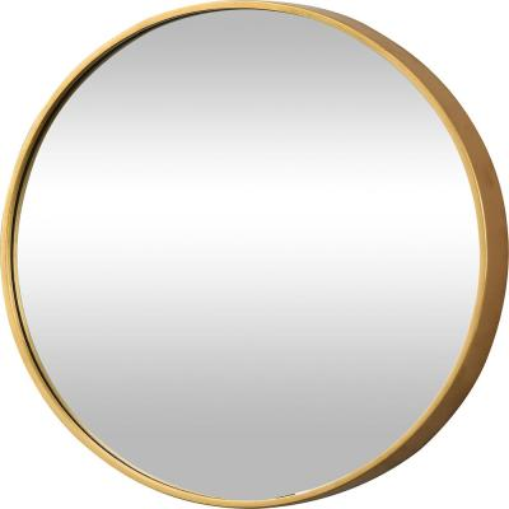 Medium Round Gold Modern Mirror (22 in. H x 1.75 in. W)