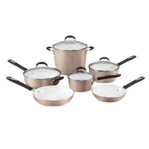 Cuisinart Elements 10-Piece Champagne Cookware Set with Lids by Cuisinart