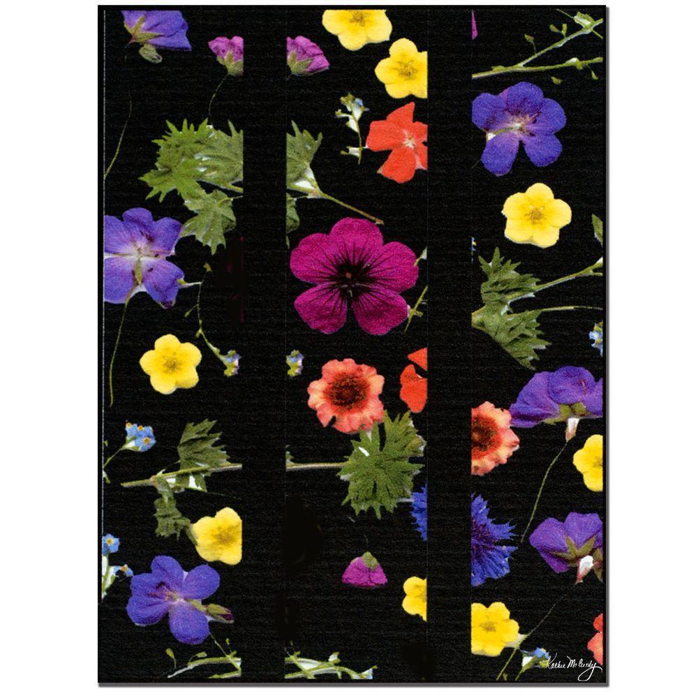 Trademark Fine Art 18 In X 24 Night Garden Canvas