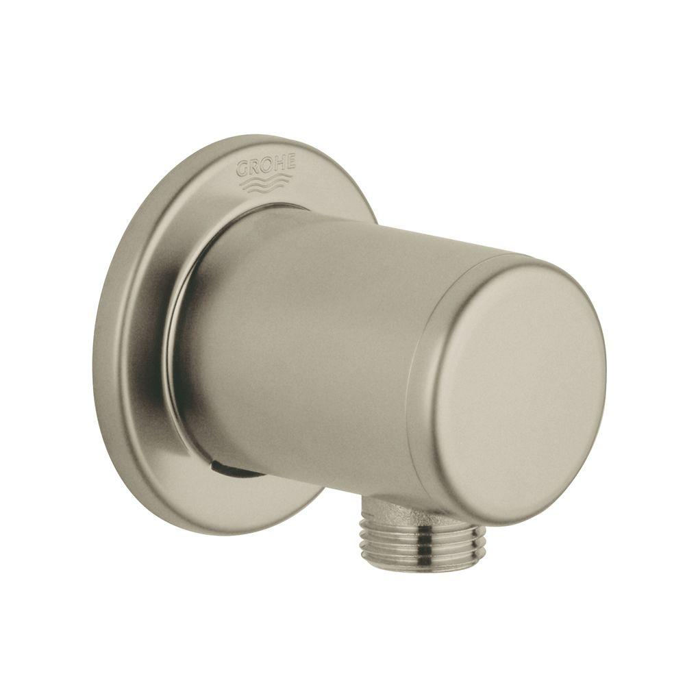 Shower Outlet Wall Union in Brushed Nickel Infinity Finish
