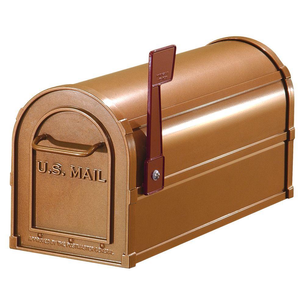 Salsbury Industries 4800 Series Post-Mount Antique Rural Mailbox
