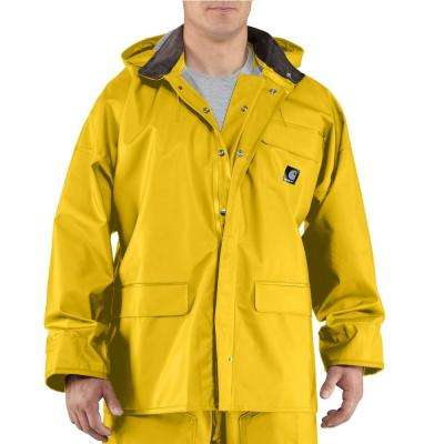 Men's Medium Yellow PVC/Polyester Surrey Coat