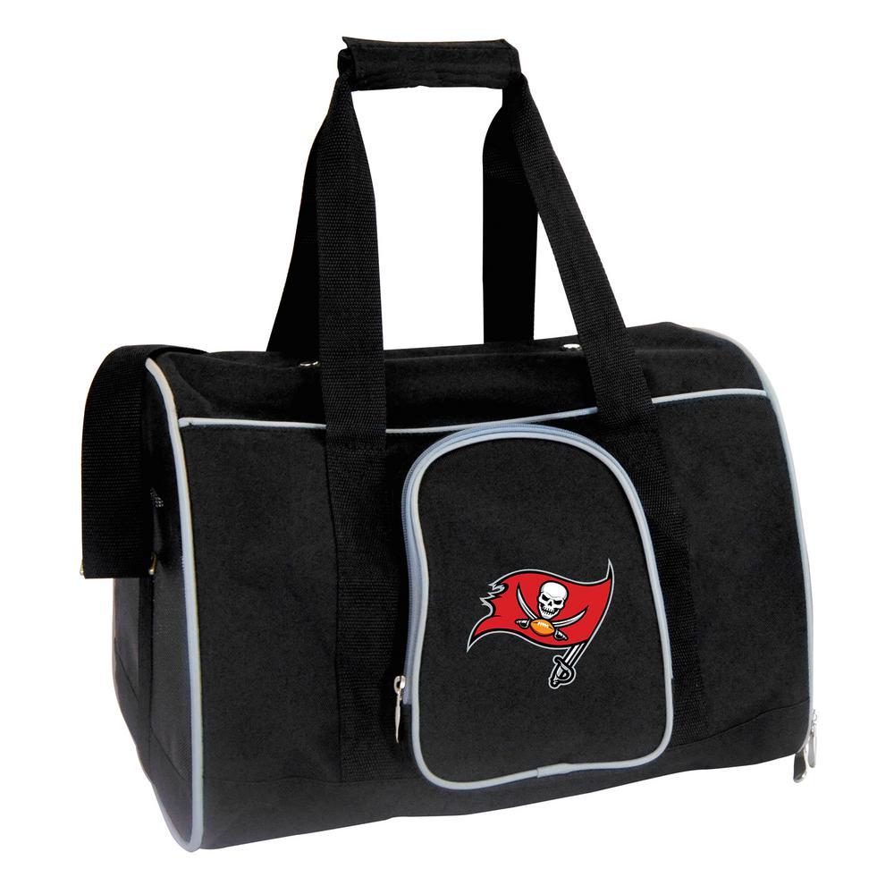 NFL Tampa Bay Buccaneers Pet Carrier Premium 16 in. Bag in Gray
