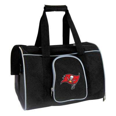 NFL Tampa Bay Buccaneers Pet Carrier Premium 16 in. Bag in Gray