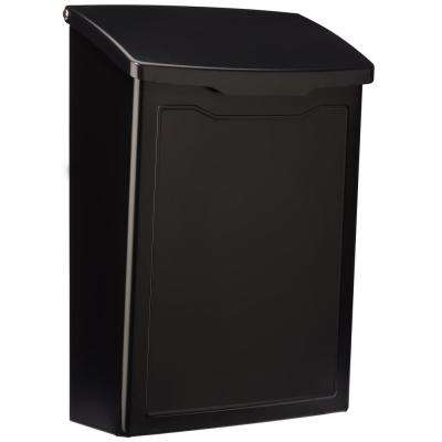 Marina Black Wall Mount Mailbox