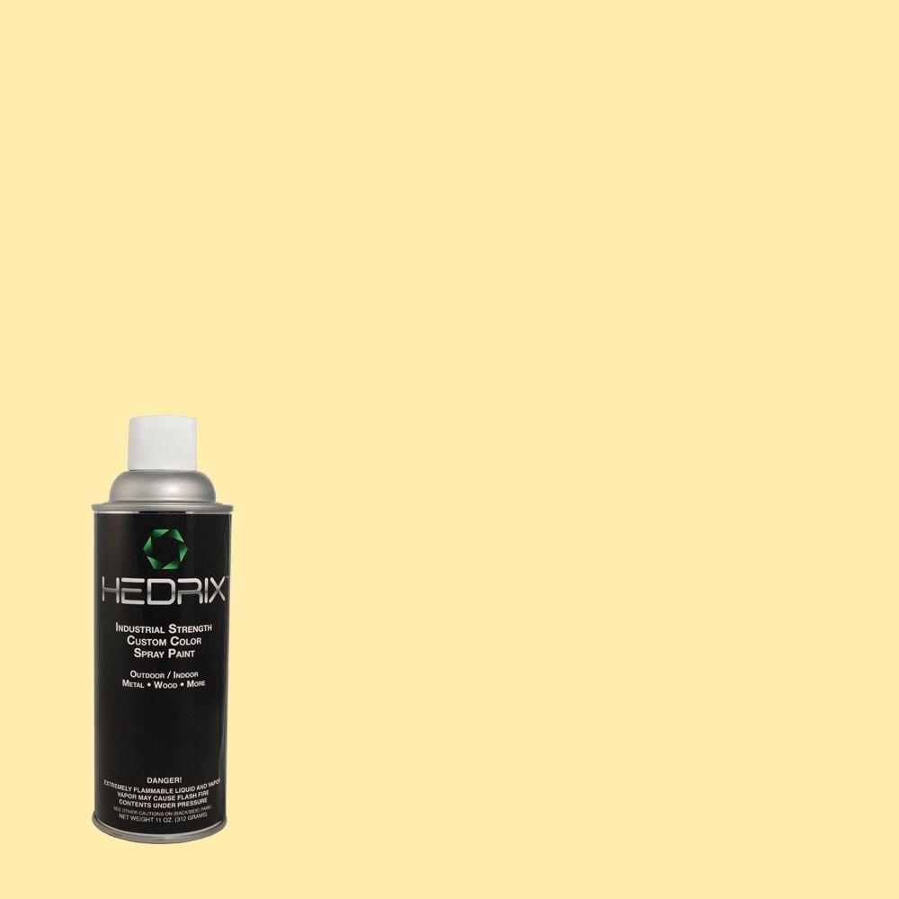 Hedrix 11 oz. Match of Pale Daffodil 370A-2 Gloss Custom Spray Paint (2-Pack)