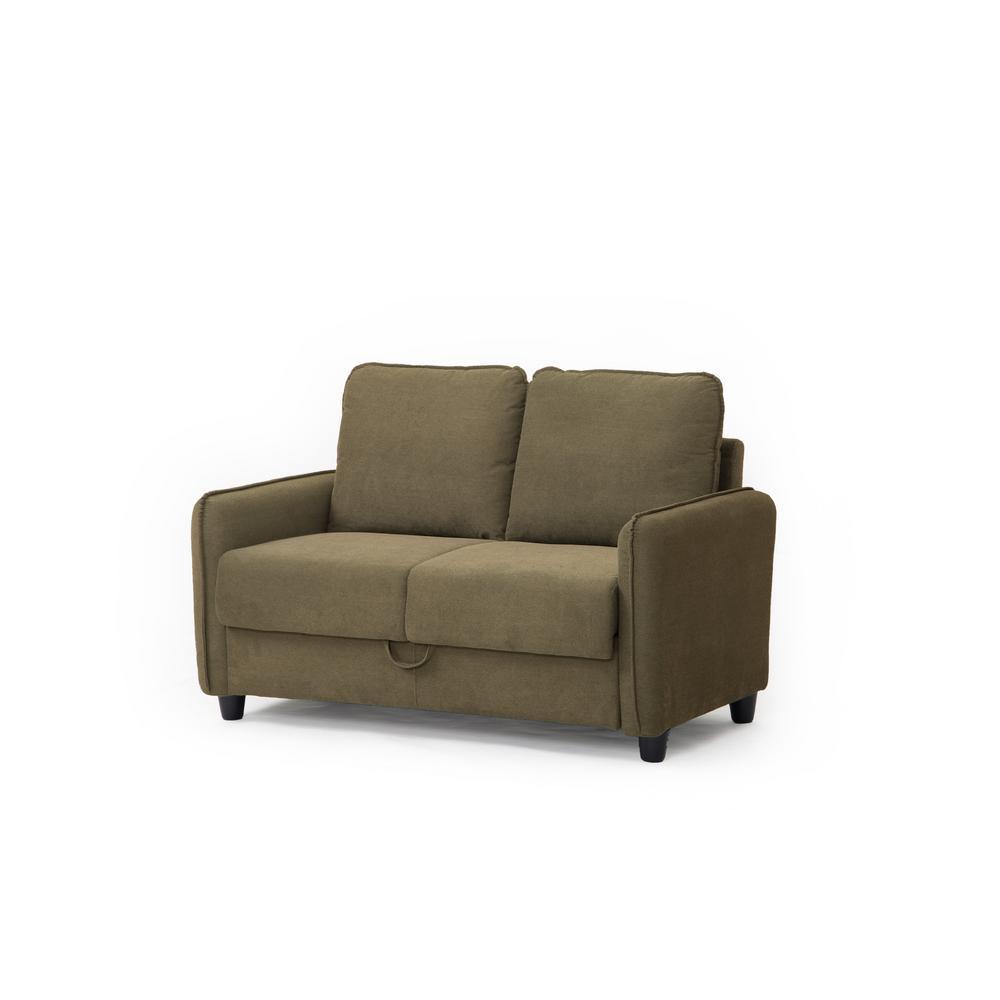Miraculous Lifestyle Solutions Sheldon Microfiber Loveseat With Storage Lamtechconsult Wood Chair Design Ideas Lamtechconsultcom