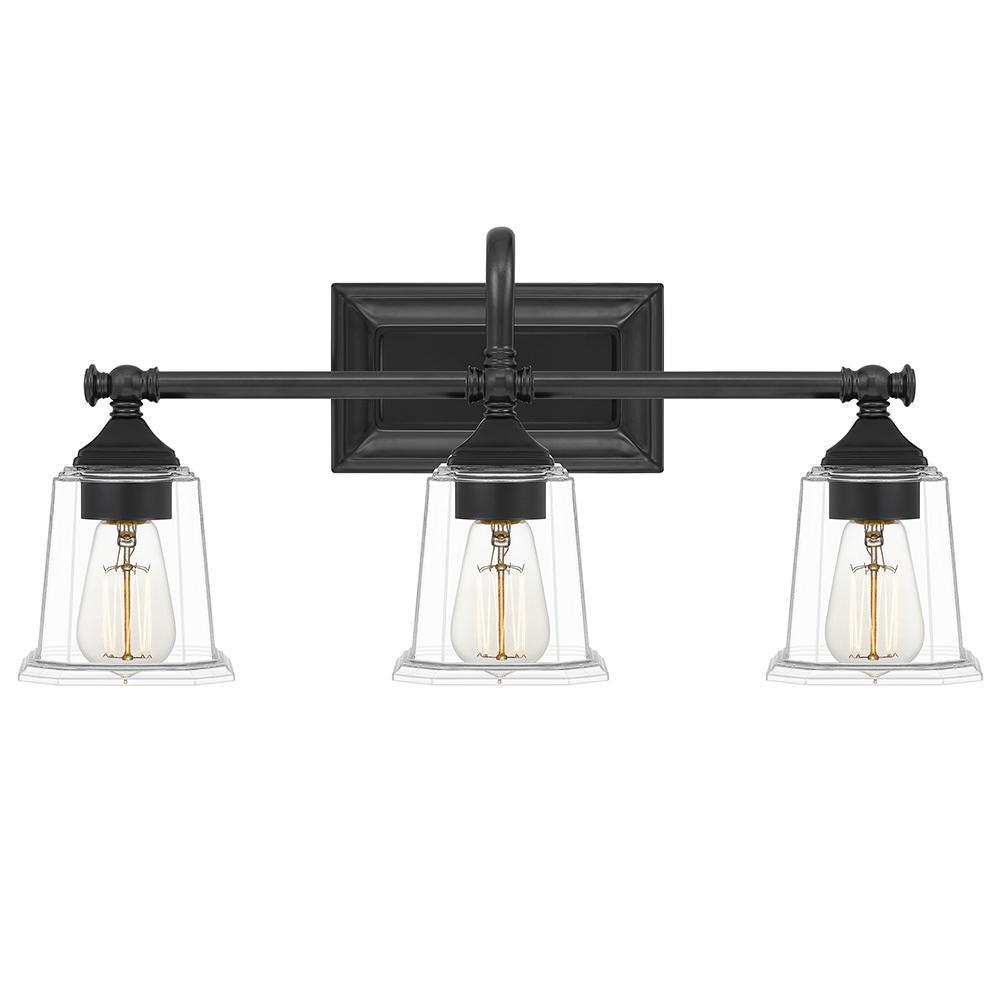 Quoizel Nicholas 3 Light Earth Black Vanity Light Nlc8603ek The Home Depot
