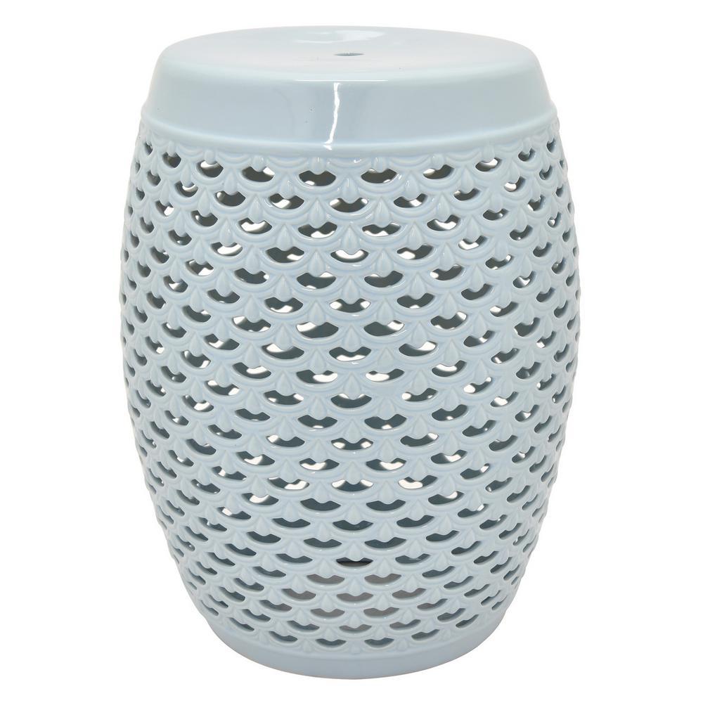 light blue ceramic garden stool - Ceramic Garden Stool