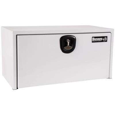 24 in. x 24 in. x 30 in. White Steel Underbody Truck Box with 3-Point Latch