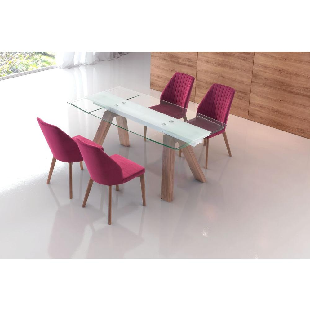 Zuo Walnut Brown Extendable Table