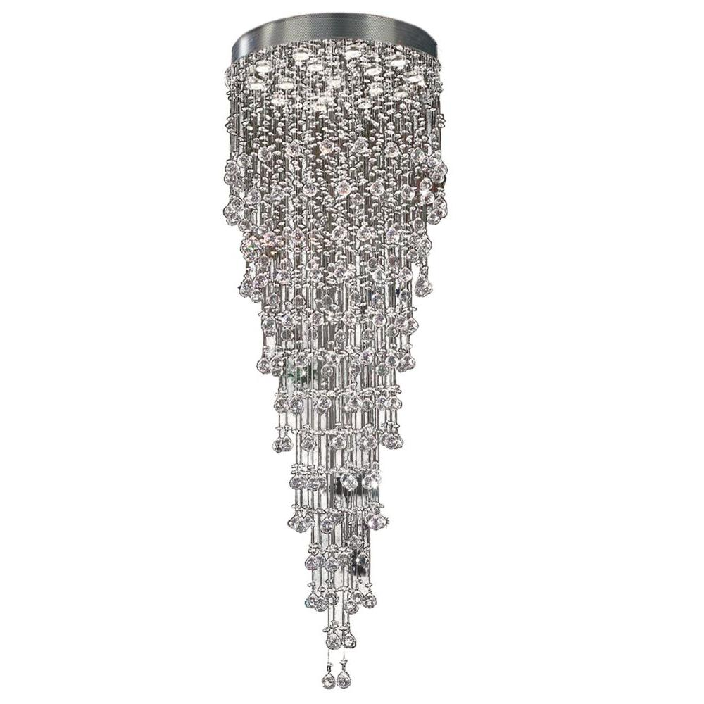 Illumine Contemporary Beauty 16-Light Polished Chrome Halogen Ceiling Chandelier