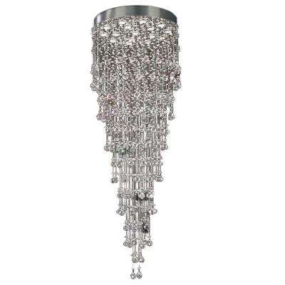Contemporary Beauty 16-Light Polished Chrome Halogen Ceiling Chandelier