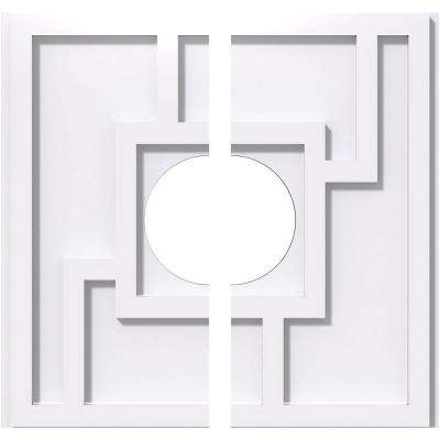 10 in. OD x 3 in. ID x 1 in. P Knox Architectural Grade PVC Contemporary Ceiling Medallion (2-Piece)