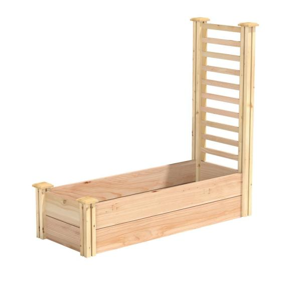 16 in. x 4 ft. x 11 in. Premium Cedar Raised Garden Bed with Trellis