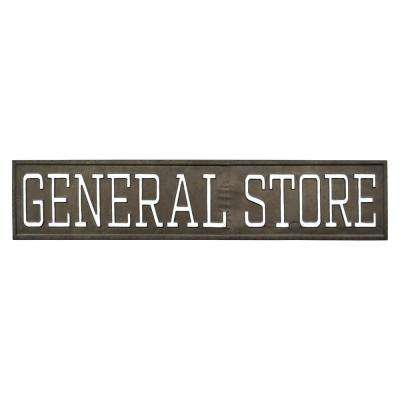 Black Metal Novelty Sign- General Store