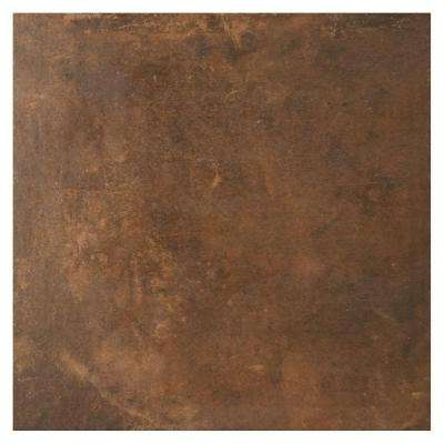 Studio Life Black Terracotta 12 in  x 12 in  Glazed Porcelain Floor and  Wall Tile (0 97 sq  ft  / piece)