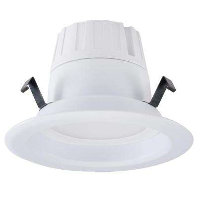 4 in White Integrated LED Recessed Trim