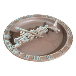 Whitehall Products Copper Verdigris Hummingbird Birdbath Sundial by Whitehall Products