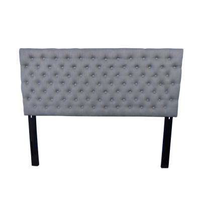 Bolton Grey Queen Button Tufted Headboard