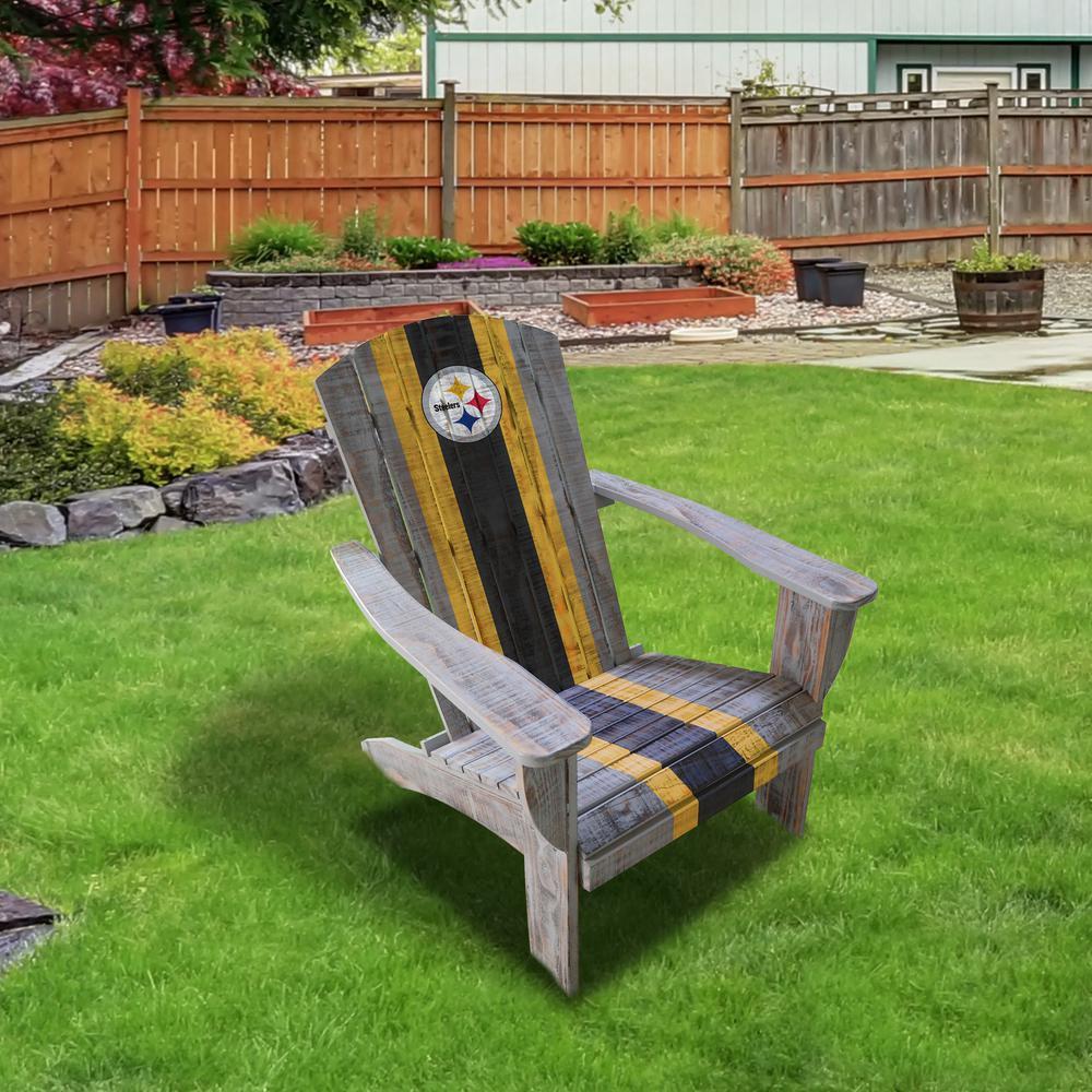 Pittsburgh Steelers Wood Adirondack Chair