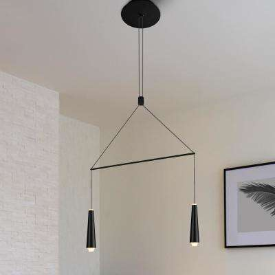 Expression 6-Watt Black Integrated LED Double Pendant Lighting Fixture