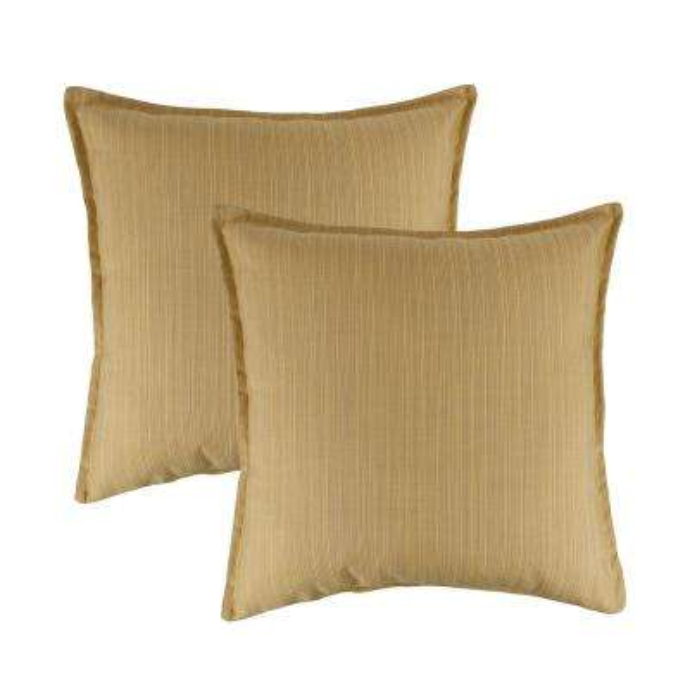 Sunbrella Dupione Cornsilk 20 in. Outdoor Pillow (set of 2)