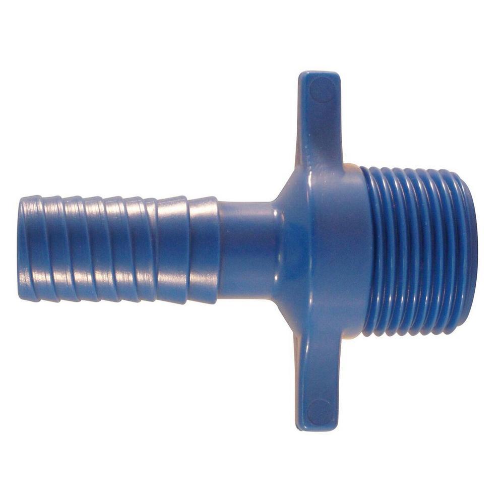 1/2 in. Blue Twister Polypropylene Insert x 3/4 in. MPT