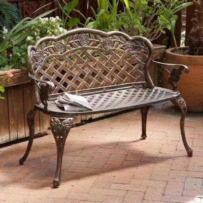 Lucia 42 in. Copper Aluminum Outdoor  Bench