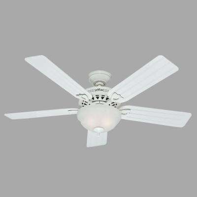 Beachcomber 52 in. Indoor White Ceiling Fan with Light Kit