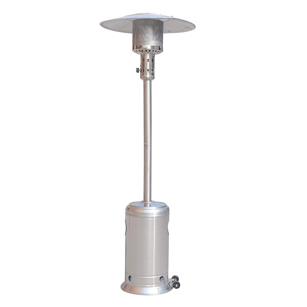 Legacy Heating 47 000 Btu Hammered Stainless Steel Propane Outdoor Flame Patio Heater Caph 7 Ss The Home Depot