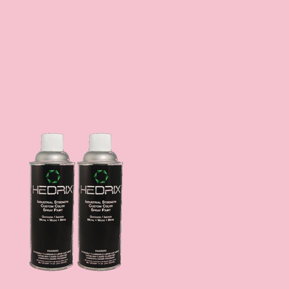 Hedrix 11 oz. Match of 100B-4 Pink Chintz Gloss Custom Spray Paint (2-Pack)