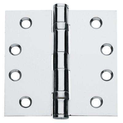 4.5 in. x 4.5 in. Bright Chrome Ball Bearing Hinge (Set of 3)