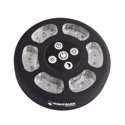 Round Black LED Camping Tent Light