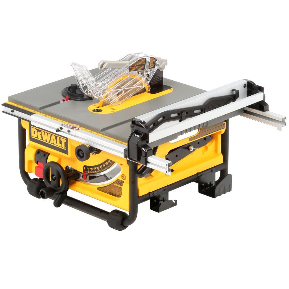 Dewalt 15 amp corded 10 in compact job site table saw with site pro compact job site table saw with site greentooth