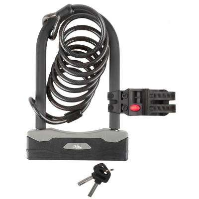 Shackle U-Lock with Spiral Cable