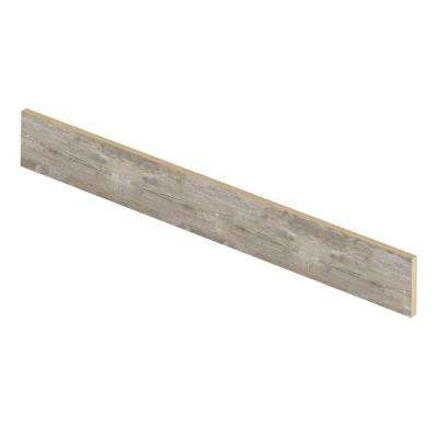 Lighthouse Oak 47 in. L x 1/2 in. D x 7-3/8 in. H Vinyl Overlay Riser to be Used with Cap A Tread