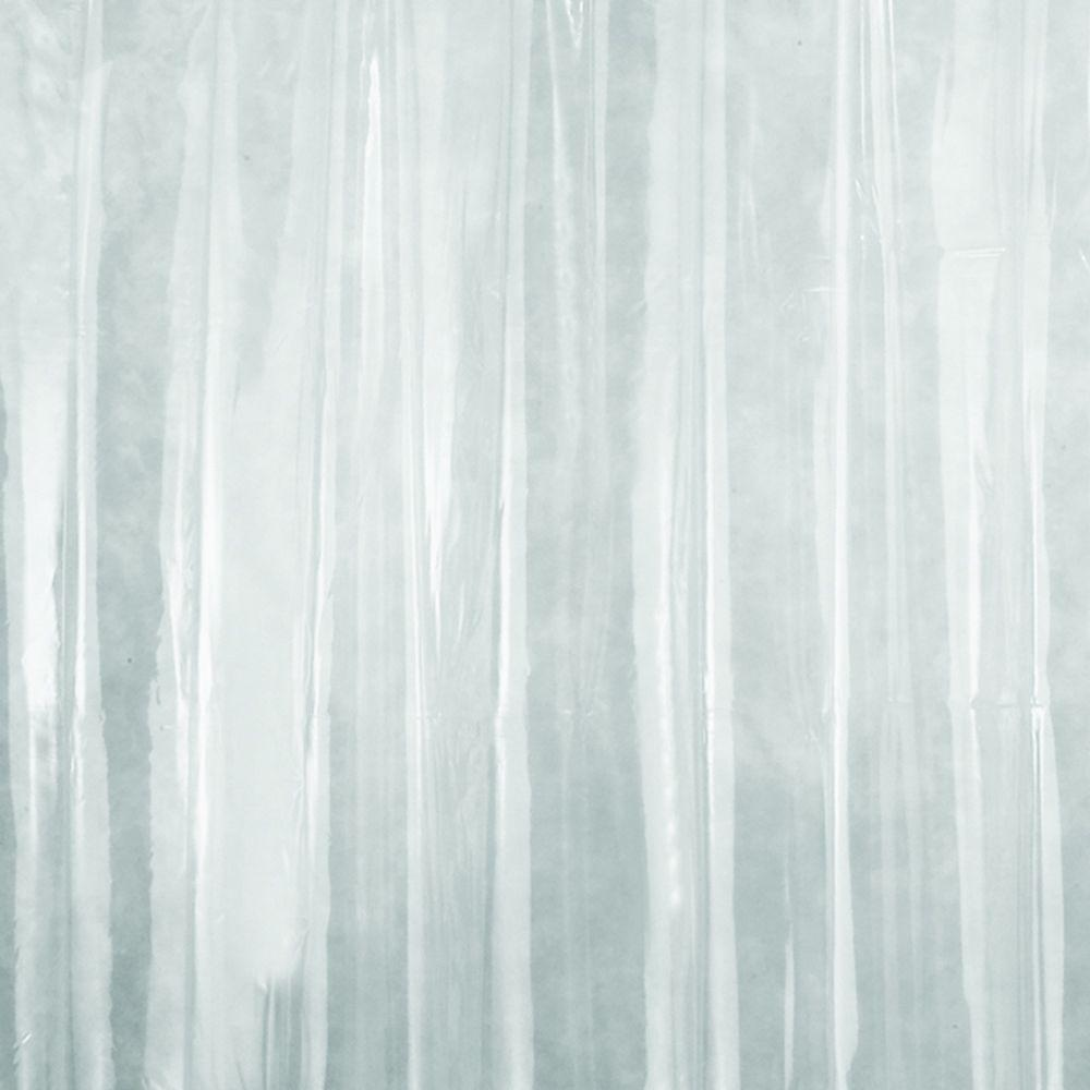 Null X Wide Shower Curtain Liner In Clear